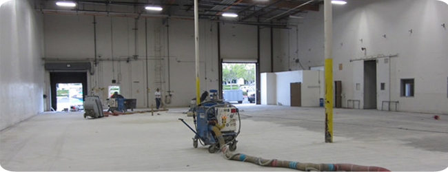 Blasting & Floor Preparation by Diamond Industrial Painters Ltd