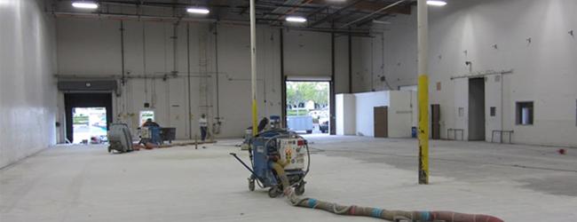 Blasting & Floor Preparation by Diamond Industrial Painters Ltd