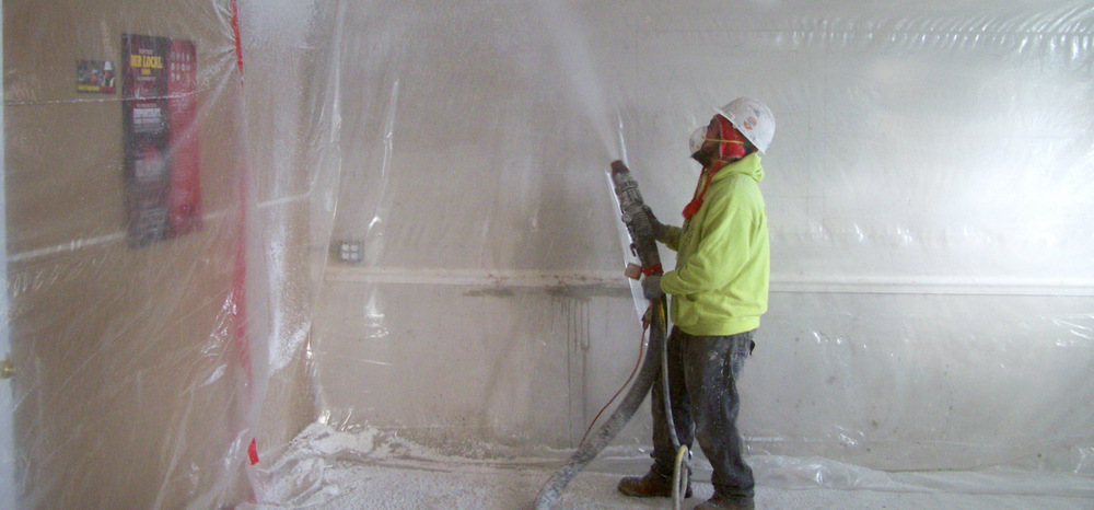 Acoustical Ceiling Spraying