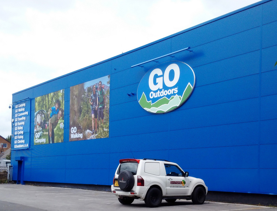 Go Outdoors Cladding Painting